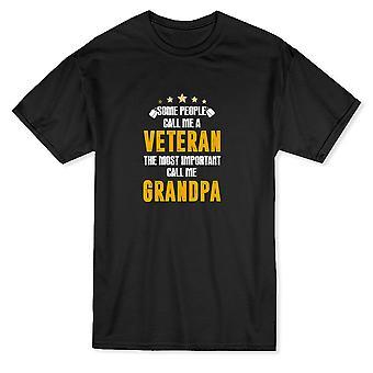 Noen folk kaller meg en Veteran de viktigste ringe meg bestefar menn t-skjorte