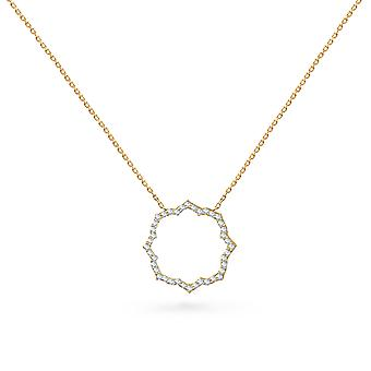 Necklace Eternal Rose 18K Gold and Diamonds - Yellow Gold