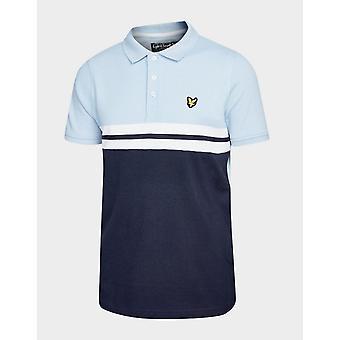 Neue Lyle & Scott Kids' Yoke Stripe Polo Shirt blau