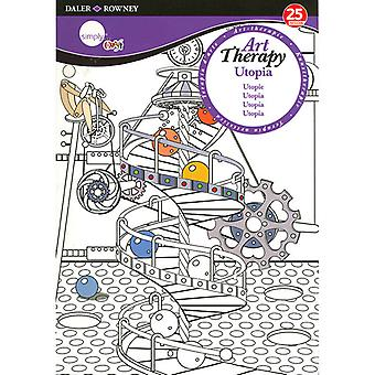 Daler Rowney Art Therapy Colouring Book - Utopie