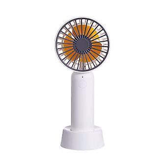 Mini-stolní ventilátor s odnímatelnou základnou - Bílá
