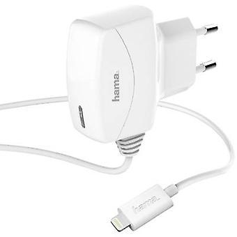 Hama Lightning 173643 iPad/iPhone/iPod charger Mains socket Max. output current 1000 mA 1 x Apple Dock lightning plug