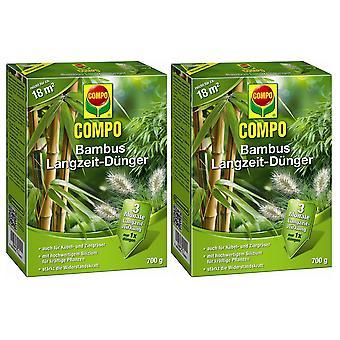 Sparset: 2 x COMPO Bamboo Long Term Fertilizer, 700 g