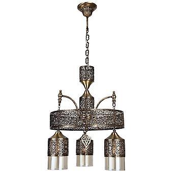 Lámpara de suspensión mihrimah Color Copper Metal, Vidrio 40x40x94 cm