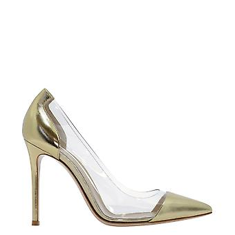 Gianvito Rossi G2014015ricnsxmekong Women's Gold Leather Pumps