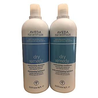 Aveda Dry Remedy Moisturizing Shampoo & Conditioner Set Dry Brittle Hair 33.8 OZ