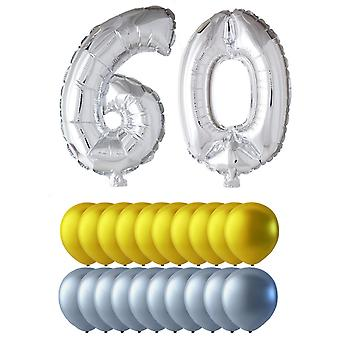 Balloons birthday mix figures and round balloons