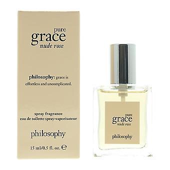 Philosophie Pure Grace Nude Rose Eau de Toilette 15ml Spray Pour Sa taille de voyage