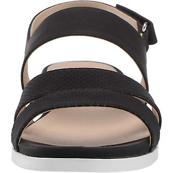 LifeStride Women's Ashley 2 Flat Sandal Black 10 N US