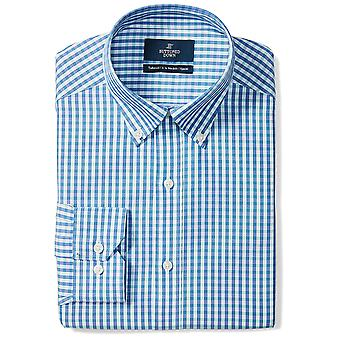 BUTTONED DOWN Men&s Tailored Fit Button-Collar Pattern Non-Iron Dress Shirt, ...