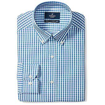 ボタンダウンメン&アポス;sテーラードフィットボタンカラーパターンノンアイアンドレスシャツ、..