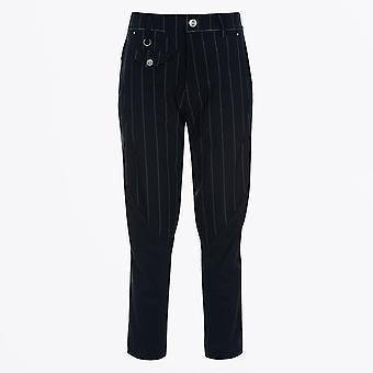 HIGH - In Motion -Tapered Leg Pinstripe Pant - Navy