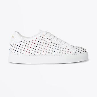 Paul Smith  - Leather 'Brasso' Trainers With Star Emboss - White