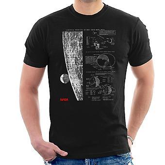 NASA geometrische Lunar Perspektive der Erde Herren T-Shirt