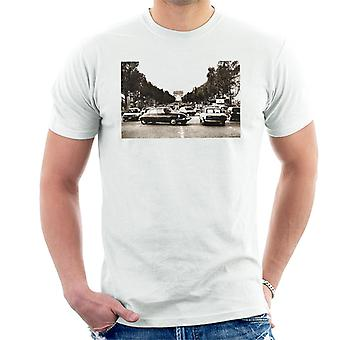 Citroen DS Paris Arc De Triomphe menn t-skjorte