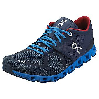 On Running Cloud X Mens Running Trainers in Navy Blue