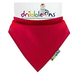 Red dribble ons bib by sock ons