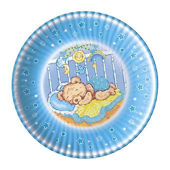 Baby Dreams Blue 24cm Placas de Festa de Papel