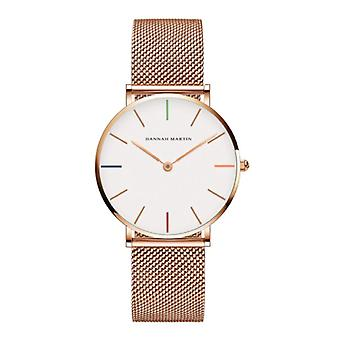 Hannah Martin Ladies Watch - Anologue Movement Mesh Strap for Women - B36-WFF