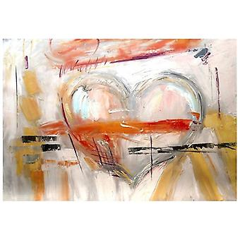 Oil on Canvas - Painting on Hand Painting - I Love You - Modern Painting Stay