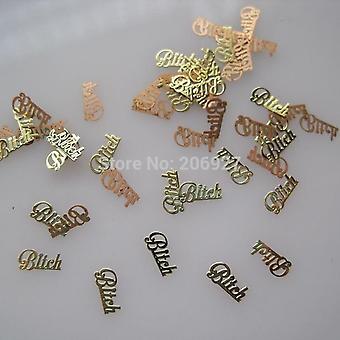 Ikke klæbemiddel - Guld Cute Nail Art Metal klistermærker