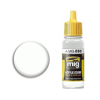 アンモ バイ ミグ アクリル ペイント - A.MIG-0050 マット ホワイト (17ml)