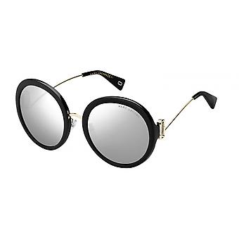 Sunglasses women's full edge round black/gold