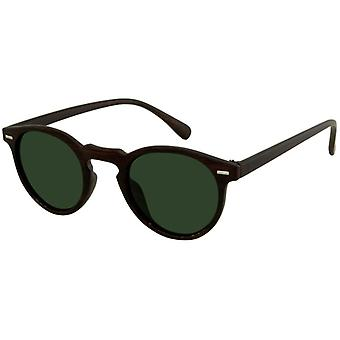 Sunglasses Unisex brown with green lens (AZB-043)