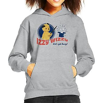 Sooty Retro Izzy Wizzy Let's Get Busy Kid's Hooded Sweatshirt