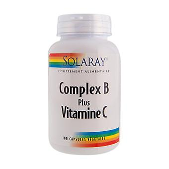 Complexo B mais cápsulas de vitamina C 100
