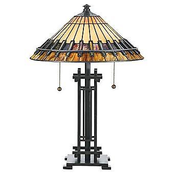 2 Lampe de bureau Tiffany Light Vintage Bronze, E27