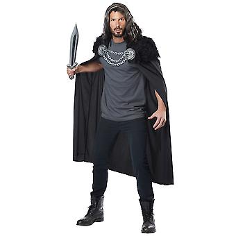 Wolf clan Warrior Viking medieval renascentist negru barbati costum Cape