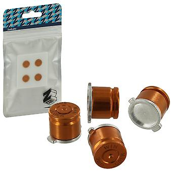 Zedlabz aluminum metal action bullet button set for sony ps4 controllers - gold