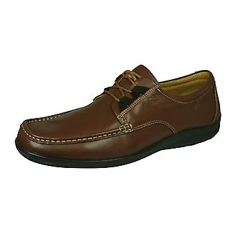 Sledgers Gus Mens Lace-up Leather Shoes - Chestnut