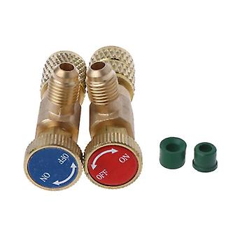 Safety Valve R410a R22 Air Conditioning Quick Coupler Connector Adapters