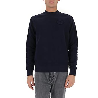 Moncler 8g783809jw778 Men's Blue Cotton Sweatshirt