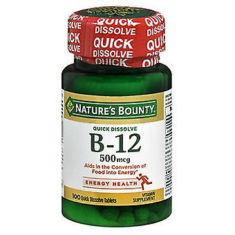 Nature's Bounty Vitamin B-12 Microlozenges, 500 mcg, 100 tabs