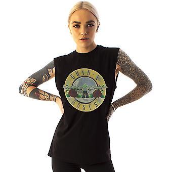 Amplifié Guns N Roses T-shirt Logo Femmes-apos;s Sleeveless Band Music Tee