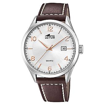 Lotus Men's Minimalist | Brown Leather Strap | Silver Dial L18634/1 Watch