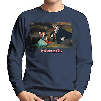 An American Tail Bridget Fieval And Honest John Men's Sweatshirt