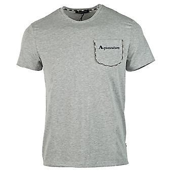 Aquascutum Check Trim Pocket Grey T-Shirt