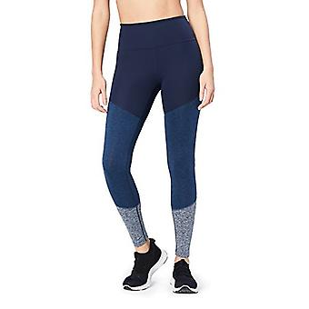 """Marca - Core 10 Women's Tri-Color Yoga Full-Length Legging - 28"""", brezo marino/marino oscuro/brezo marino, X-Small"""