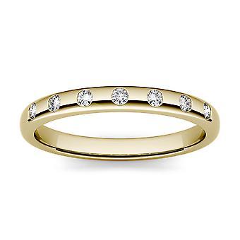 Forever One 1.5mm Ronda Moissanite Stackable Ring