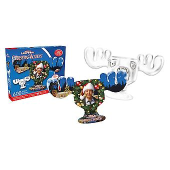 Christmas vacation - moose mug collage 600pc double-sided puzzle