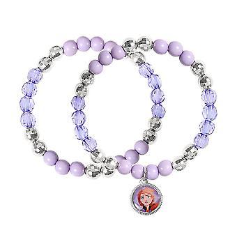 Lapset's Disney Frozen 2 Anna Purple Charm Bead Rannekoru Setti