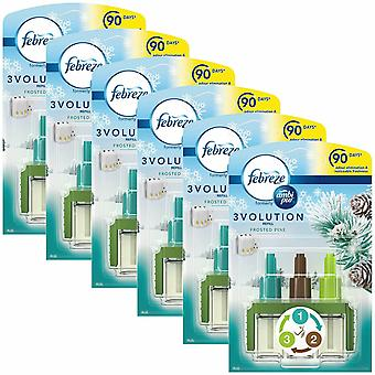 Ambi Pur 3-Volution Refill Frosted Pine Air Fragrance Refill, Pack of 6, 20ml