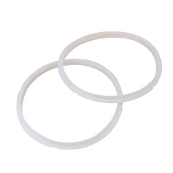 2Pieces Silica Gel Sealing Rings for Electric Pressure Cooker 8L White