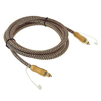 2m Length Digital Audio Optical Fiber Cable Toslink M to M, OD:6.0mm