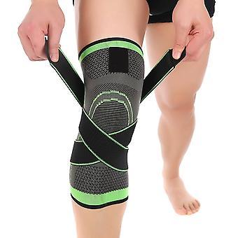 Manga de rodilla manga rodilla brace deportes al aire libre para hombres mujeres verdes
