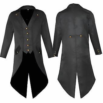 Men's Retro Tailcoat Gothic Steampunk Long Victorian Frock Coat  Suit Jacket